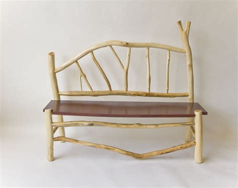 birch bench hand crafted whimsical birch bench by atlantic bridge furniture custommade com