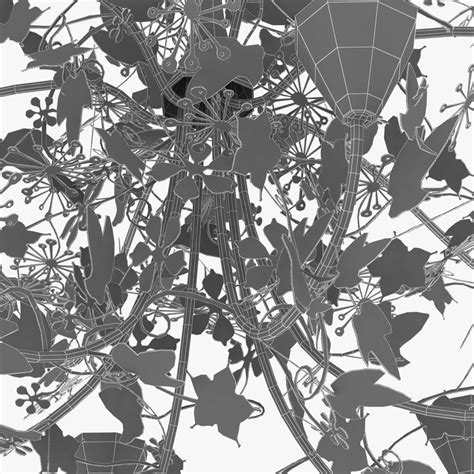 Porta Romana Ivy Shadow Chandelier Fore 3d Model Forest Shadow Chandelier Price