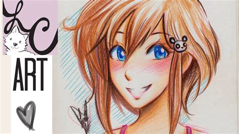 how to color with colored pencils anime colored pencil tutorial how to color skin and