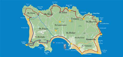 0004490363 carte touristique jersey en jersey 187 vacances arts guides voyages