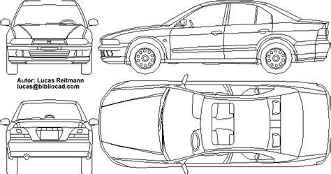 car templates for autocad carmitsubishigalant 437 gif 660 215 348 carros pinterest