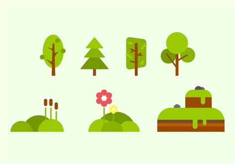 free vector free green nature vectors free vector