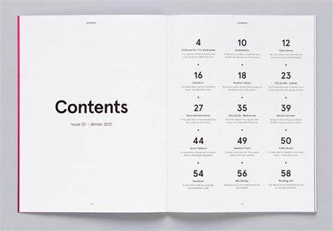 design inspiration table of contents 5 pro tricks to instantly improve your magazine layouts