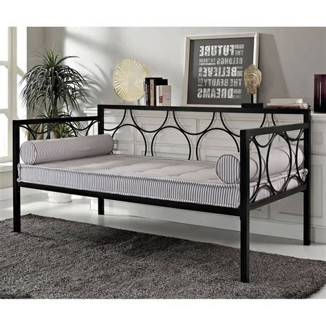 Metal Daybed Frame Black Daybed Frame Size Sofa Day Bed Metal Bedroom Furniture Futon Modern Ebay