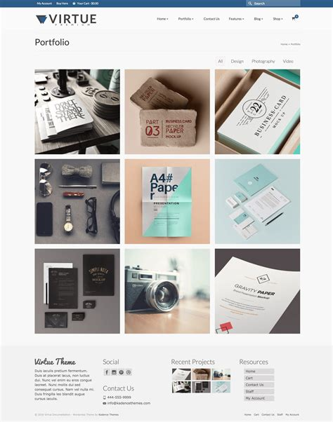 template portfolio portfolio grid page template virtue premium documentation