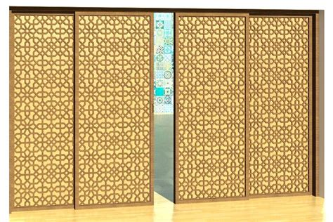 islamic pattern revit building rfa door sliding revit