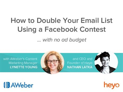 Facebook Sweepstakes List - how to double your email list with a facebook contest
