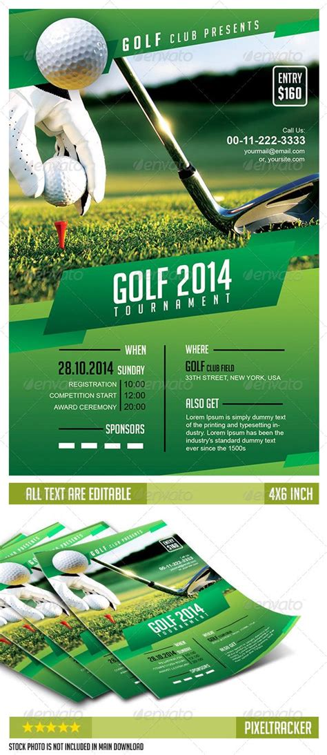 Golf Cart Tournament Cards Template by Golf Tournament Flyer Template No Model Required