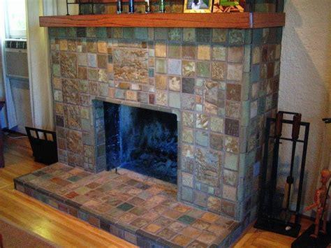 batchelder tile fireplace designy craftsman
