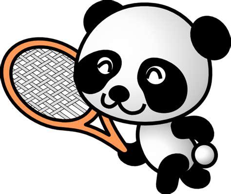 panda clipart tennis panda clip at clker vector clip