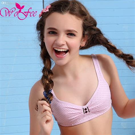 wholesale wofee 2015 latest bra wireless young bra small vest w1008 kids in briefs boys