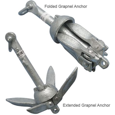 grapnel boat anchors seafit folding grapnel anchors west marine