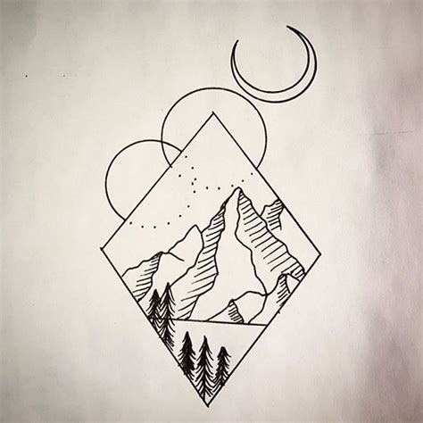 tattoo geometric drawing 17 best mountain tattoo images on pinterest mountain