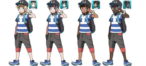 hairstyles in pokemon moon male pokemon sun and moon male trainer alternates by sirpeaches