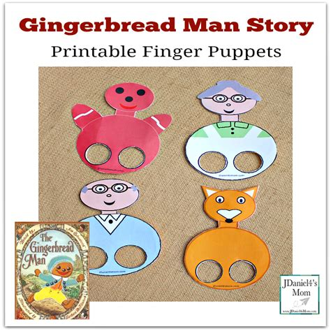 printable version gingerbread man story gingerbread man story printable finger puppets