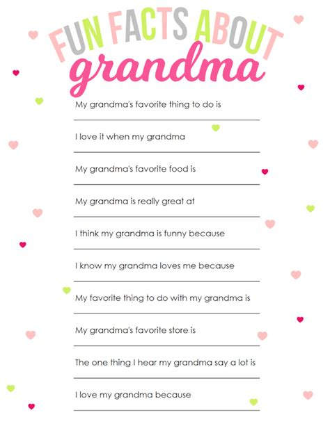 printable mother s day questionnaire mother s day printable for grandma creative girls and gift