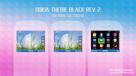 romantic themes for nokia c3 nokia theme black for c3 00 x2 01 s406th 320x240 wb7themes