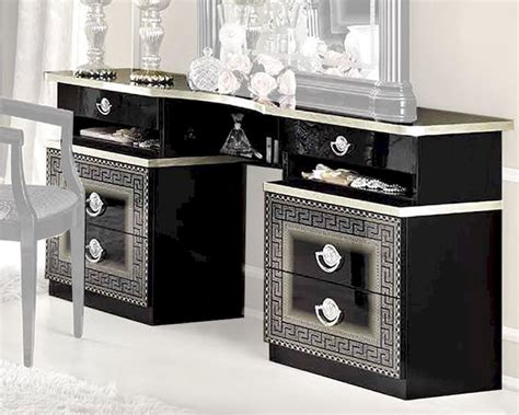 aida versace design italian 6 item bedroom set in ivory ebay aida versace italian 6 item bedroom set in black and