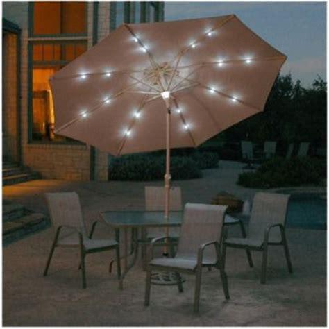 Patio Umbrella Lights Target Solar Lighted Patio Umbrella Beige 9