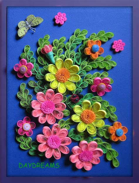 Paper Quilling How To Make Flowers - daydreams quilled flowers framed work