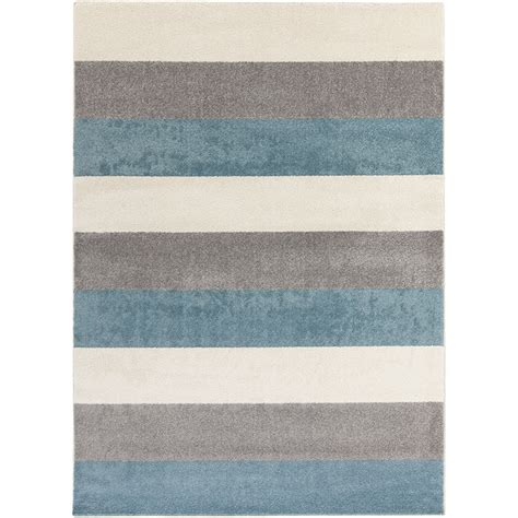Modern Grey Rug Henderson Modern Area Rug With Blue Grey And Beige Color Stripes Pattern Made From Wool