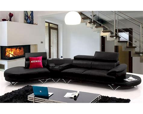 contemporary leather sectional contemporary black leather sectional sofa 44l5971