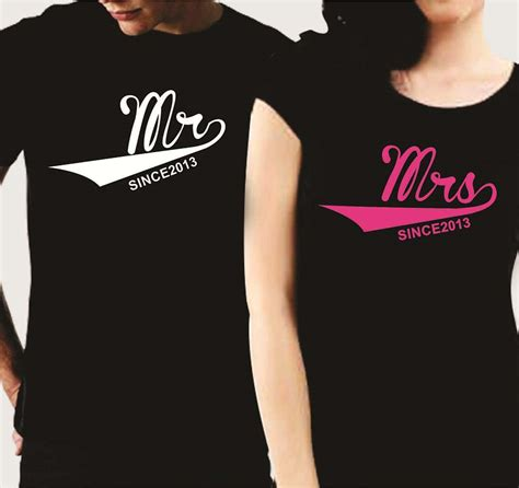 Housewarming Gifts Ideas by Personalized Mr Mrs Since Couple T Shirts Giftsmate