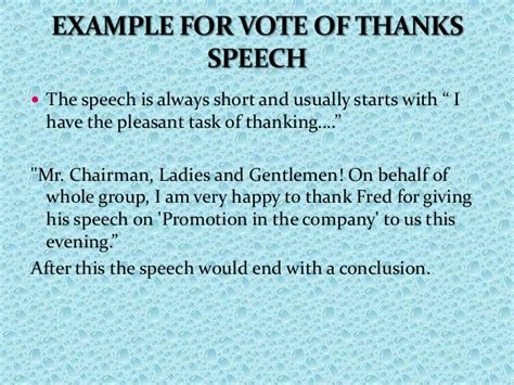 template of vote of thanks business