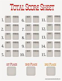Chili Cook Template by Chili Cook Voting Sheet Template Just B Cause