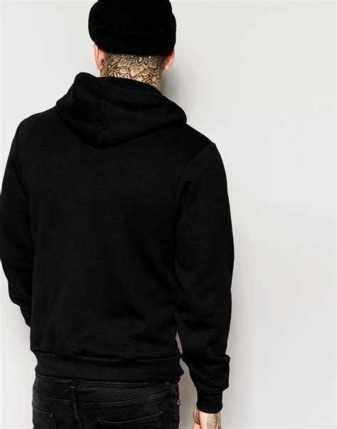 american apparel hoodie american apparel flex hoodie in black for lyst