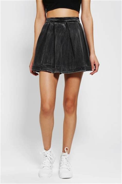 kill city grungy denim circle skirt outfitters
