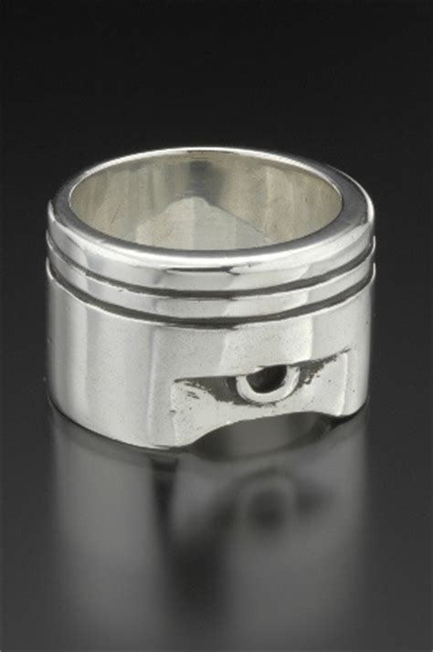 Piston Wedding Ring – The 12:1 piston ring started it all    Men's Jewelry