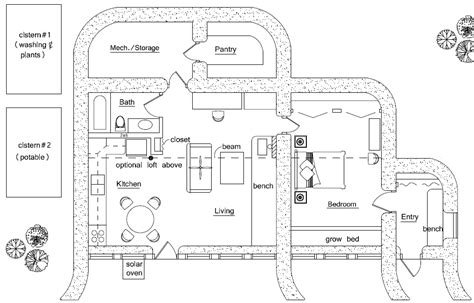 small zero energy house plans home plan earthbag house plans page 6