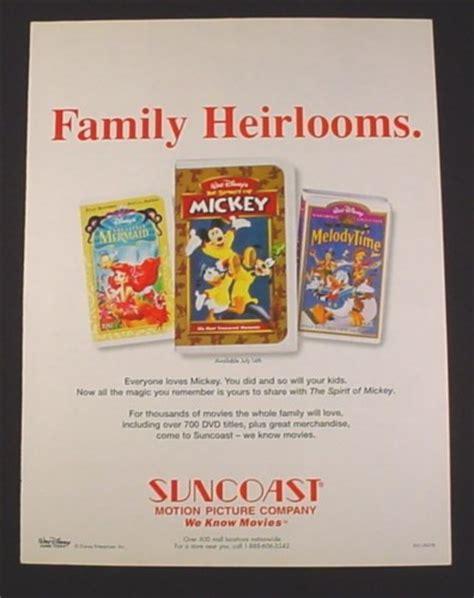 Disney The Brave Little Toaster Magazine Ad For Disney Videos 1998 Little Mermaid The
