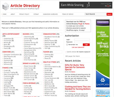 wordpress templates for articles using a wordpress plugin to create an article directory