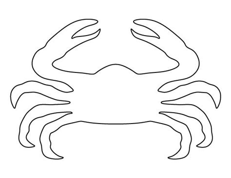 crab claw template crab pattern use the printable pattern for crafts