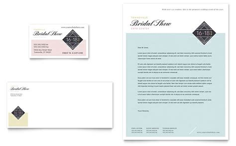 bridal show business card letterhead template word