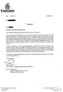 Termination Letter Template Uae My Story From Emirates Airline Hell Truth About Emirates
