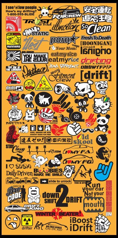 Dijamin Stiker Mobil Jdm Drift King Sticker Cutting Kaca new popular jdm car decal stickers what you see is