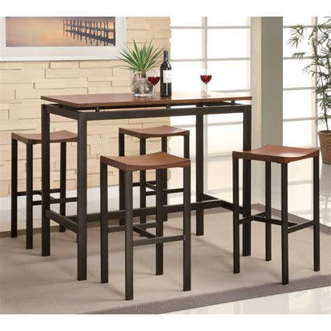 Walmart Counter Height Table by Coaster 5 Counter Height Table And Chair Set