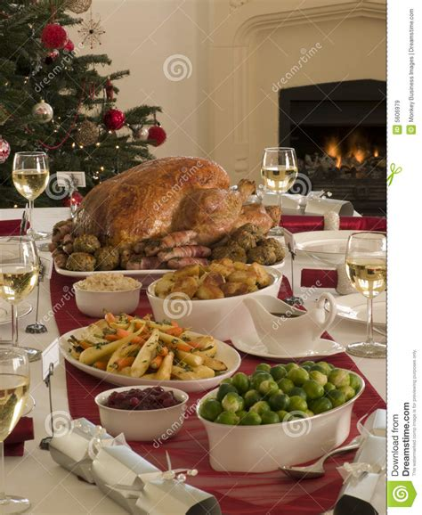 Cheap Glass Wine Glasses roast turkey christmas dinner stock image image 5606979