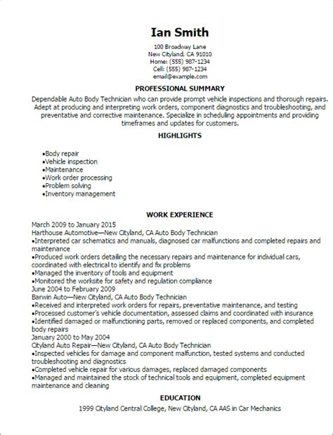 auto mechanic resume objective 28 images delivering