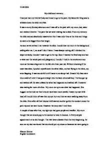 Childhood Story Essay by My Childhood Memory Gcse Marked By Teachers