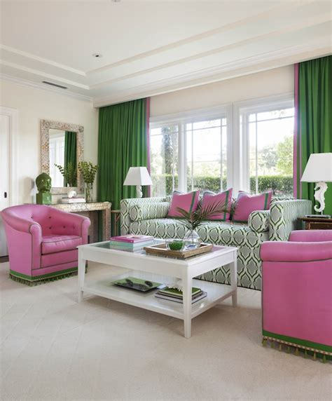 green curtains contemporary living room anne hepfer