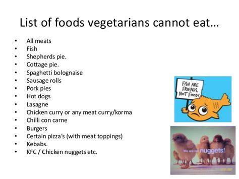 vegetarians fact file