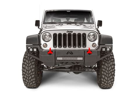 Jeep Wrangler Unlimited Bumper Fab Fours Vengeance Front Bumper For 07 17 Jeep 174 Wrangler