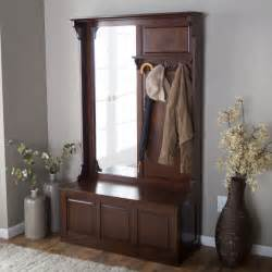 Entryway Mirror With Storage Belham Living Lynden Hall Tree With Vertical Mirror Hall