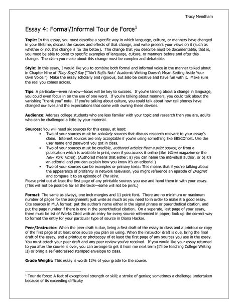 Formal Writing Essay by College Essays College Application Essays Informal Essay Sle