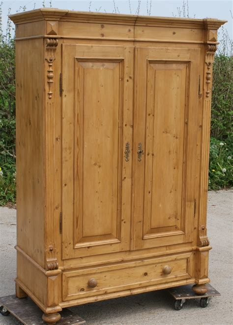 pine armoire wardrobe late 19th century large antique german solid pine armoire