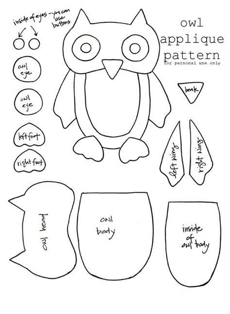 printable owl applique pattern best photos of owl craft patterns valentine owl craft